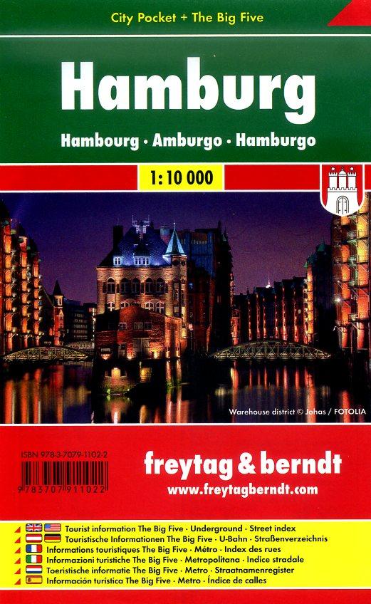 Hamburg 1:10.000 | stadsplattegrond 9783707911022  Freytag & Berndt Compact plattegrond  Stadsplattegronden Hamburg