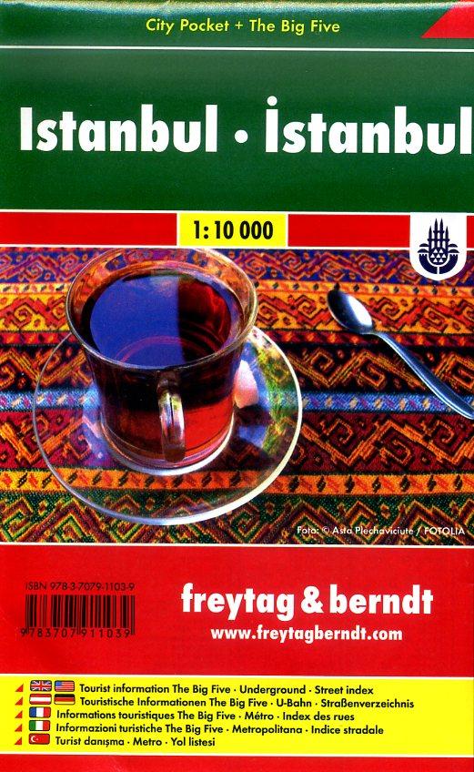 Istanbul 1:10.000 | stadsplattegrond 9783707911039  Freytag & Berndt Compact plattegrond  Stadsplattegronden Europees Turkije met Istanbul