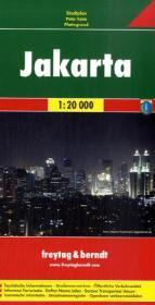 Jakarta 1:20.000 | stadsplattegrond 9783707911114  Freytag & Berndt   Stadsplattegronden Indonesië