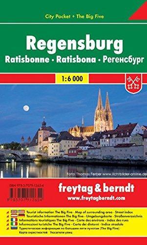 Regensburg 1:10.000 | stadsplattegrond 9783707912654  Freytag & Berndt Compact plattegrond  Stadsplattegronden Beierse Woud, Regensburg