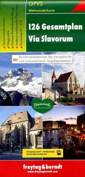 Via Slavorum, Gesamtplan 9783707914092  Freytag & Berndt   Wandelkaarten Oostenrijk