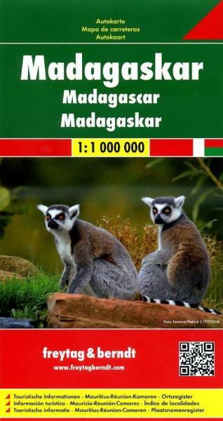 Madagascar | autokaart, wegenkaart 1:1.000.000 9783707914139  Freytag & Berndt   Landkaarten en wegenkaarten Madagascar