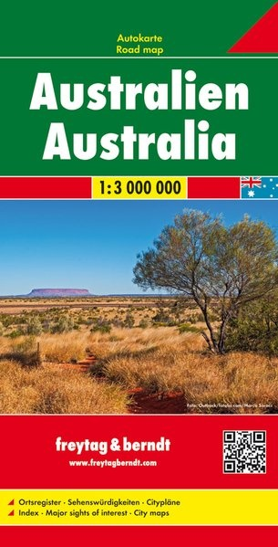 Australië   wegenkaart, autokaart 1:3.000.000 9783707914153  Freytag & Berndt   Landkaarten en wegenkaarten Australië