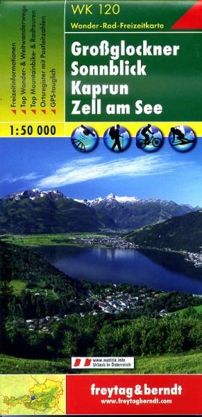 WK-120  Grossglockner,Sonnblick,Kaprun,Zell am See 9783707914696  Freytag & Berndt WK 1:50.000  Wandelkaarten Salzburg, Karinthië, Tauern, Stiermarken