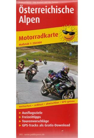 Österreichische Alpen 1:250.000 9783747303931  Publicpress Motorradkarten - mit der Sonne  Landkaarten en wegenkaarten, Motorsport Oostenrijk