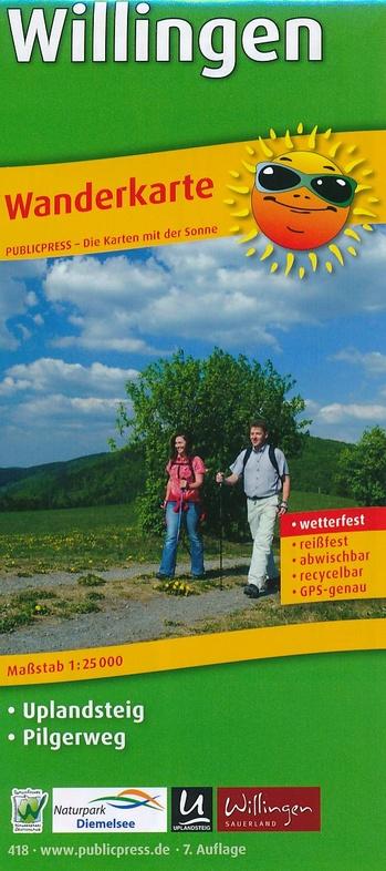 Willingen, omgeving | wandelkaart 1:25.000 9783747304181  Publicpress Wandelkaarten - mit der Sonne  Wandelkaarten Sauerland