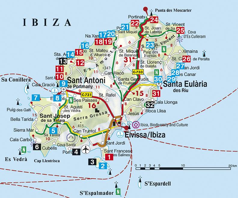 Ibiza Rother Wanderfuhrer Wandelgids 2019 9783763342600