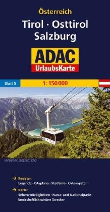 AO-5 Tirol, Osttirol, Salzburg 9783826416415  ADAC Österr. 1:150.000  Landkaarten en wegenkaarten Salzburg, Karinthië, Tauern, Stiermarken