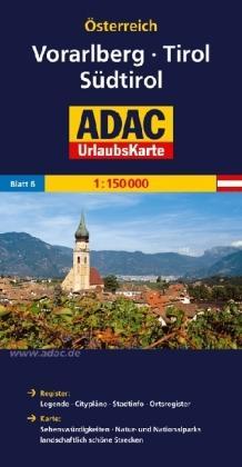 AO-6 Tirol, Vorarlberg, Südtirol 9783826416422  ADAC Österr. 1:150.000  Landkaarten en wegenkaarten Tirol & Vorarlberg
