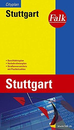 Stuttgart stadsplattegrond 1:10.000 / 20.000 9783827901118  Falk   Stadsplattegronden Heidelberg, Kraichgau, Stuttgart, Neckar
