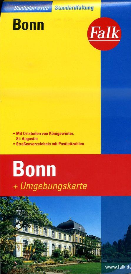 Bonn 1:20.000 9783827922311  Falk Stadsplattegronden  Stadsplattegronden Aken, Keulen en Bonn