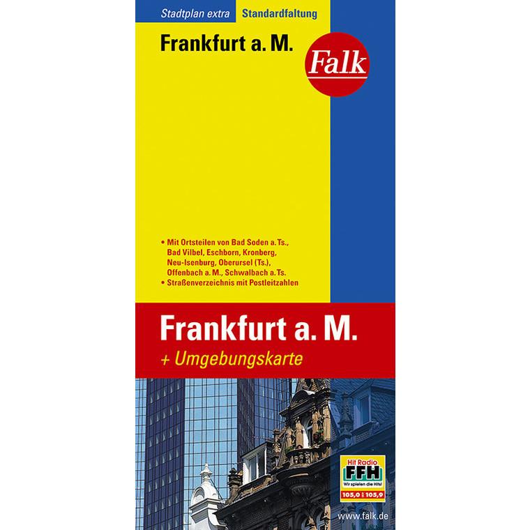 Frankfurt 1:20.000 9783827923080  Falk Stadsplattegronden  Stadsplattegronden Frankfurt, Taunus, Rheingau