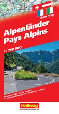Alpen 1:750.000 9783828309005  Hallwag   Landkaarten en wegenkaarten Zwitserland en Oostenrijk (en Alpen als geheel)