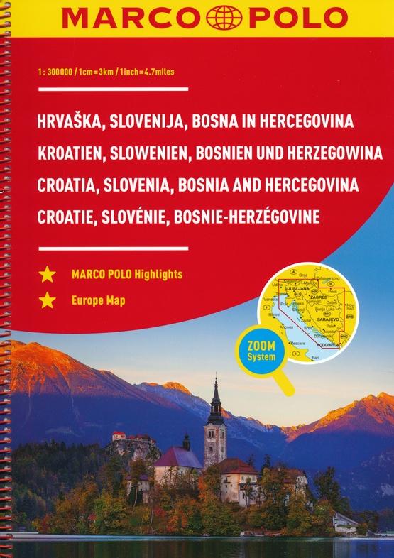 Slowenien, Kroatien, Bosnien und Herzegowina 9783829736886  Marco Polo (D) Wegenatlassen  Wegenatlassen Balkan