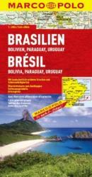 Brazilie 1:4.000.000 9783829739054  Marco Polo (D) MP Wegenkaarten  Landkaarten en wegenkaarten Brazilië