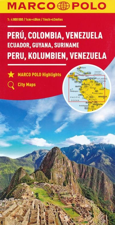 Zuid-Amerika Noord 1:4.000.000 9783829739368  Marco Polo (D) MP Wegenkaarten  Landkaarten en wegenkaarten Zuid-Amerika (en Antarctica)