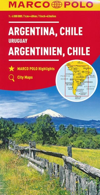 Zuid-Amerika Zuid 1:4.000.000 9783829739375  Marco Polo (D) MP Wegenkaarten  Landkaarten en wegenkaarten Zuid-Amerika (en Antarctica)