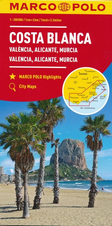 Costa Blanca/ Valencia 1:200.000 9783829739931  Marco Polo (D) MP Wegenkaarten  Landkaarten en wegenkaarten Costa Blanca