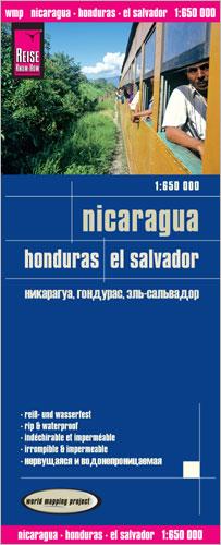 landkaart, wegenkaart Nicaragua, Honduras, El Salvador 9783831772698  Reise Know-How WMP Polyart  Landkaarten en wegenkaarten Overig Midden-Amerika