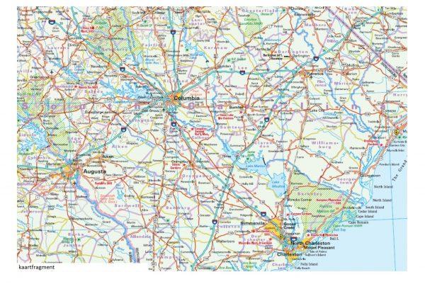 landkaart, wegenkaart USA-09  Zuid-Oost 1:1.250.000 9783831772834  Reise Know-How WMP Polyart  Landkaarten en wegenkaarten VS Zuid-Oost, van Virginia t/m Mississippi