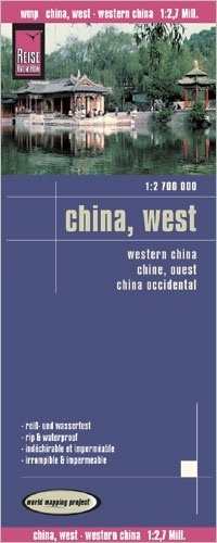 landkaart, wegenkaart China, West-  1:2.700.000 9783831772872  Reise Know-How WMP Polyart  Landkaarten en wegenkaarten China (Tibet: zie Himalaya)