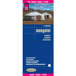 landkaart, wegenkaart Mongolië 1:1.600.000 9783831773039  Reise Know-How WMP Polyart  Landkaarten en wegenkaarten Mongolië