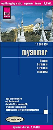 landkaart, wegenkaart Birma (Myanmar) 1:1.500.000 9783831773183  Reise Know-How WMP Polyart  Landkaarten en wegenkaarten Birma (Myanmar)