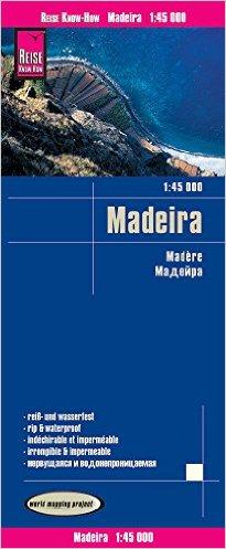 Madeira 1:45.000 wegenkaart en wandelkaart 9783831773497  Reise Know-How WMP Polyart  Landkaarten en wegenkaarten Madeira