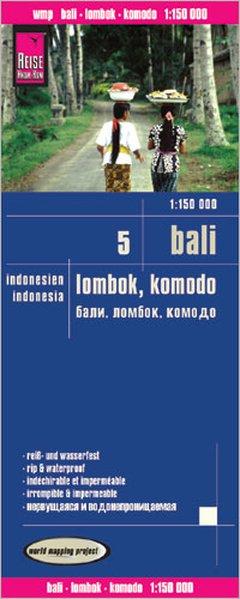 landkaart, wegenkaart Bali, Lombok, Komodo 1:150.000 9783831773695  Reise Know-How WMP Polyart  Landkaarten en wegenkaarten Indonesië