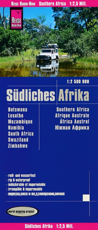 landkaart, wegenkaart Zuidelijk Afrika 1:2.500.000 9783831773992  Reise Know-How WMP Polyart  Landkaarten en wegenkaarten Zuidelijk-Afrika