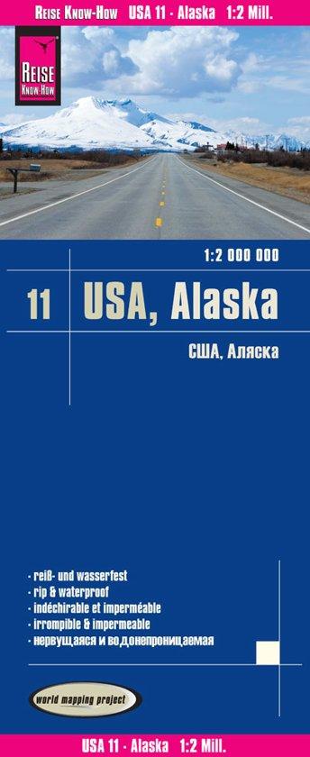 landkaart, wegenkaart USA-11 Alaska 1:2.000.000 9783831774043  Reise Know-How WMP Polyart  Landkaarten en wegenkaarten Alaska