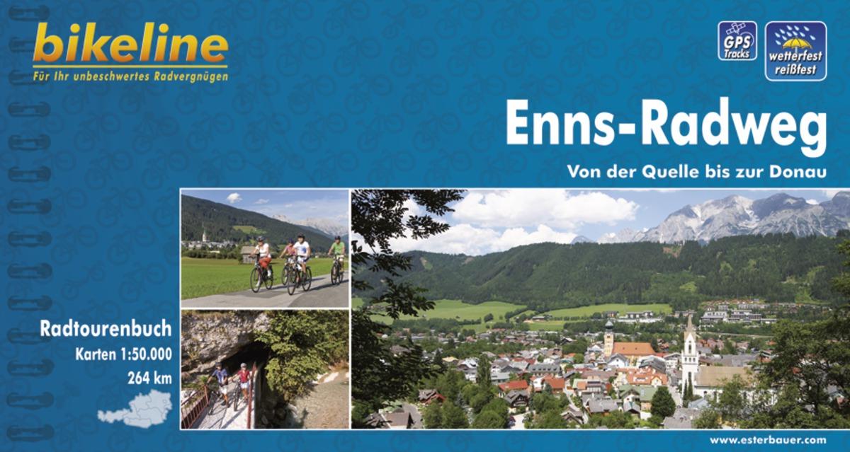 Bikeline Enns-Radweg   fietsgids 9783850000321  Esterbauer Bikeline  Fietsgidsen Salzburg, Karinthië, Tauern, Stiermarken