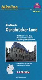 RK-NDS11 Osnabrücker Land 1:75.000 9783850003100  Esterbauer Bikeline Radkarten  Fietskaarten Bremen, Osnabrück, Emsland