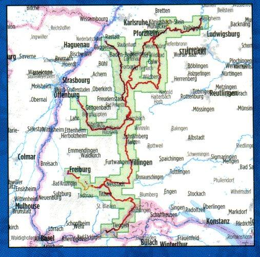 Bikeline Schwarzwald Flussradwege   fietsgids 9783850003384  Esterbauer Bikeline  Fietsgidsen Zwarte Woud