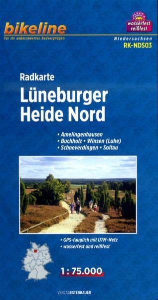 RK-NDS03  Lüneburger Heide Nord 1:75.000 9783850003605  Esterbauer Bikeline Radkarten  Fietskaarten Lüneburger Heide, Elbufer