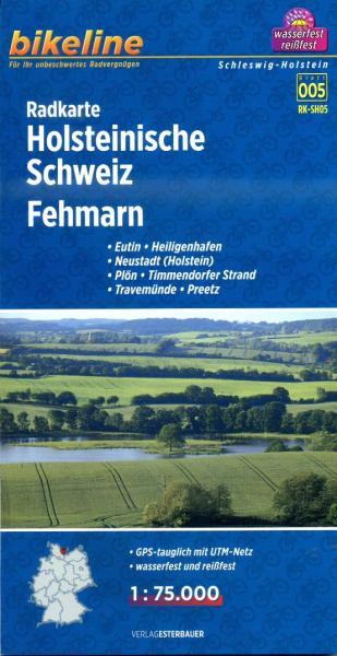 RK-SH05  Holsteinische Schweiz / Fehmarn 1:75.000 9783850003698  Esterbauer Bikeline Radkarten  Fietskaarten Schleswig-Holstein, Lübeck