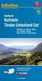 RK-A13  Kufstein, Tiroler Unterland Ost  1:75.000 9783850003940  Esterbauer Bikeline Radkarten  Fietskaarten Tirol & Vorarlberg