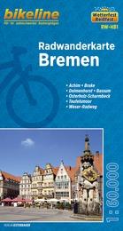RW-HB1  Bremen  1:60.000 9783850003995  Esterbauer Bikeline Radkarten  Fietskaarten Bremen, Osnabrück, Emsland