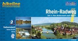 Bikeline Rhein-Radweg 1 | fietsgids 9783850004855  Esterbauer Bikeline  Fietsgidsen, Meerdaagse fietsvakanties Zwitserland