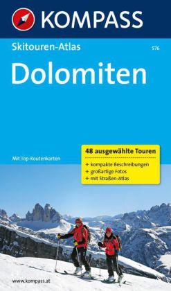 Skitouren-Atlas Dolomiten 9783850264235  Kompass   Wintersport Zuidtirol, Dolomieten, Friuli, Venetië, Emilia-Romagna