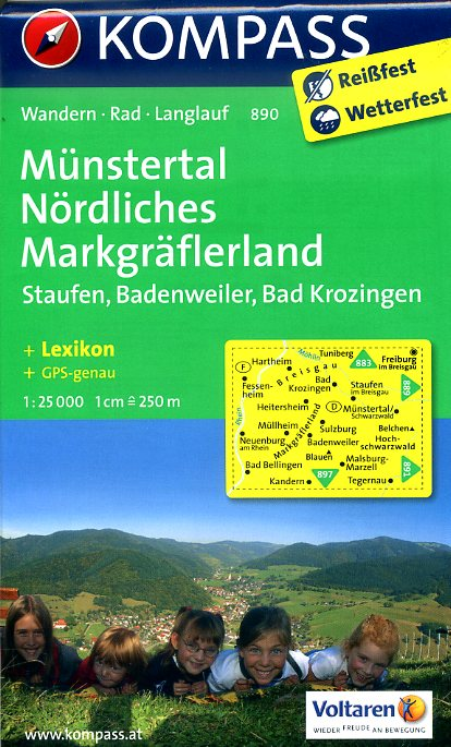 KP-890 Münstertal 1:25.000   Kompass 9783850265027  Kompass Wandelkaarten Kompass Duitsland  Wandelkaarten Zwarte Woud