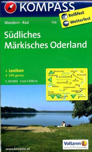 KP-746 Südliches Märkisches Oderland | Kompass wandelkaart 9783850265096  Kompass Wandelkaarten Kompass Duitsland  Wandelkaarten Berlijn, Brandenburg, Sachsen-Anhalt