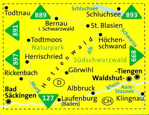 KP-898 St.Blasien/Todtmoos   Kompass 9783850267236  Kompass Wandelkaarten Kompass Duitsland  Wandelkaarten Zwarte Woud