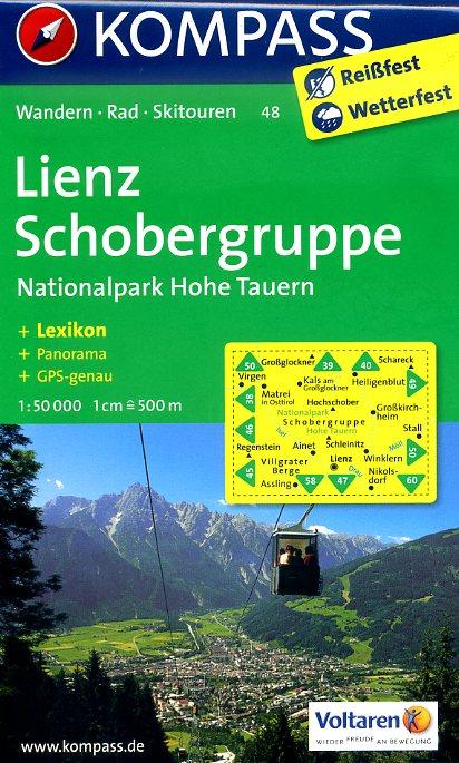 KP-48 Lienz-Schobergruppe   Kompass wandelkaart 9783850267328  Kompass Wandelkaarten Kompass Oostenrijk  Wandelkaarten Salzburg, Karinthië, Tauern, Stiermarken