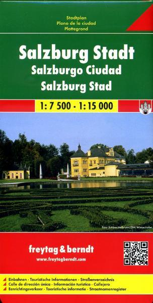 Salzburg   stadsplattegrond 9783850841184  Freytag & Berndt   Stadsplattegronden Salzburg, Karinthië, Tauern, Stiermarken