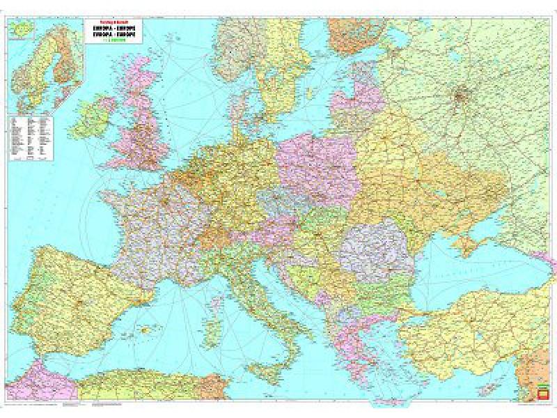 [01] Europa wandkaart 1:3.500.000 9783850844444  Freytag & Berndt   Wandkaarten Europa