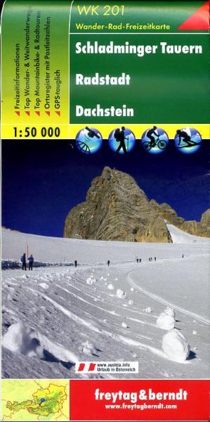 WK-201  Schladminger Tauern,Radstadt,Dachstein 9783850847162  Freytag & Berndt WK 1:50.000  Wandelkaarten Salzburg, Karinthië, Tauern, Stiermarken