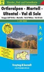WK-S06 Ortleralpen-Martell-Ultental-Val di Sole 9783850847964  Freytag & Berndt WK 1:50.000  Wandelkaarten Zuidtirol, Dolomieten, Friuli, Venetië, Emilia-Romagna
