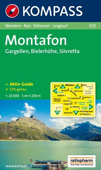 KP-032  Alpenpark Montafon | Kompass wandelkaart 9783854916147  Kompass Wandelkaarten Kompass Oostenrijk  Wandelkaarten Tirol & Vorarlberg