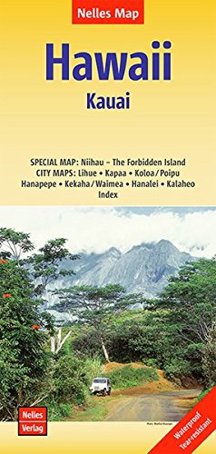 Hawaii 1: Kauai | wegenkaart - overzichtskaart 9783865740762  Nelles Nelles Maps  Landkaarten en wegenkaarten Hawaii